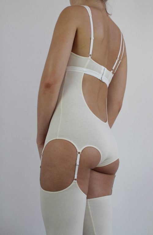 long organic cotton bodysuit