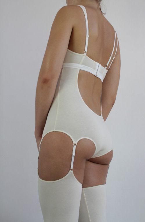 long organic cotton bodysuit