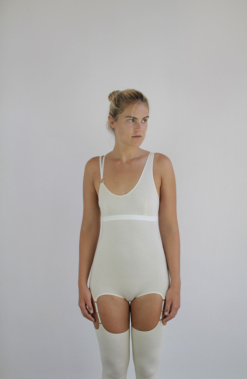 talk under light (Cercle) long organic cotton bodysuit