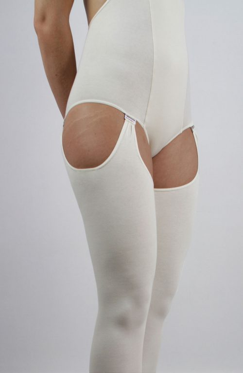 Organic cotton thigh-high leg warmers