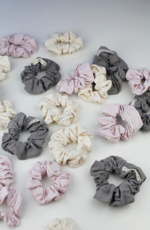 organic cotton scrunchies